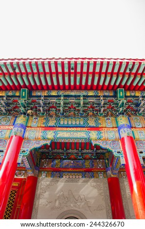 Arch  chinese  temple - stock photo