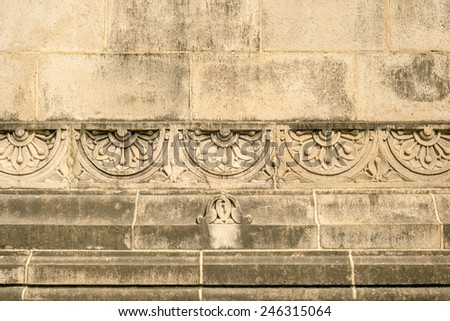 Arch details of Gateway of India in Mumbai - stock photo