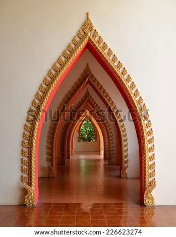 Arch door Thai model - stock photo
