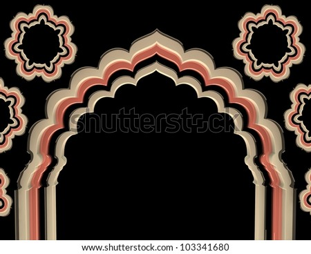 Arch Flower Color - stock photo