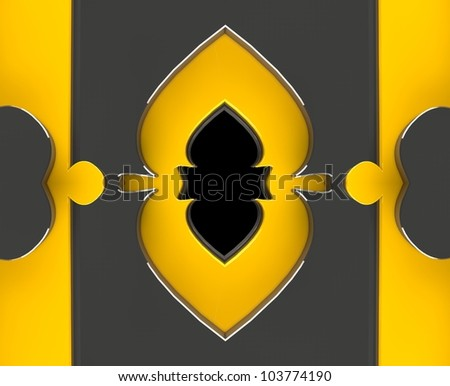 Arch Flower gold - stock photo