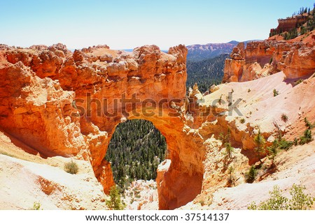 Arch in Bryce Canyon National Park - stock photo