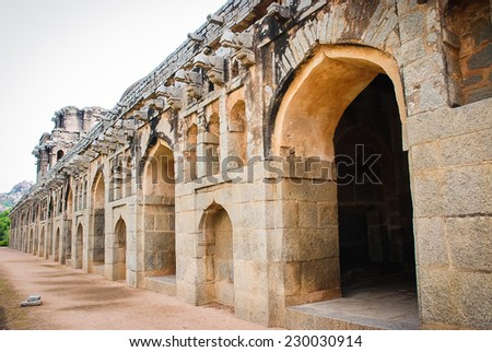 arch Indian temple - stock photo