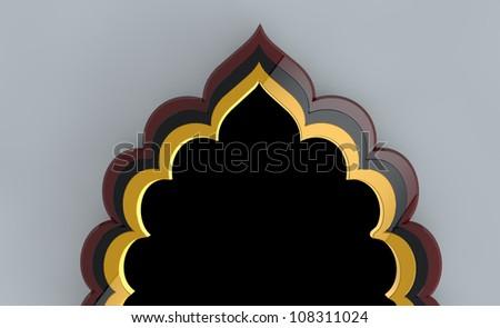 Arch Islamic Greeting - stock photo