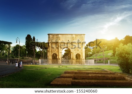 Arch of Constantine, Rome, Italy - stock photo
