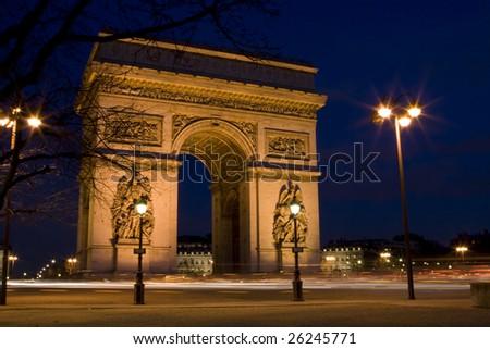Arch of Triumph, Paris, France - stock photo