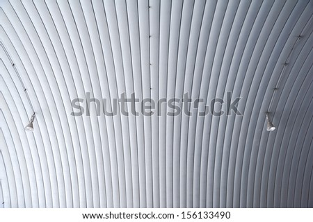 arch shape of roof ceiling  - stock photo