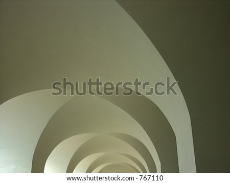 Arch tunnel - stock photo