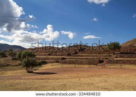 Archaelogical Pikillaqta. The ancient city of the tribes who lived here before the Incas.