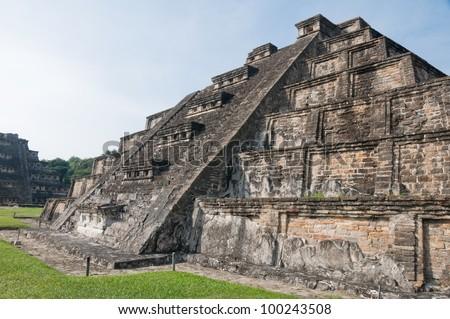 Archaeological site of El Tajin, Veracruz (Mexico) - stock photo