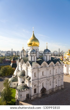 Archangel Cathedral of the Moscow Kremlin - stock photo