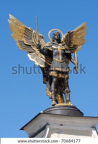 Archangel Michael in Kiev - stock photo