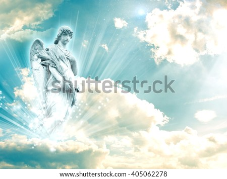 archangel Rafael with a book - stock photo