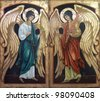 Archangels Michael and Gabriel - stock photo