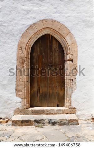 Arched door - stock photo