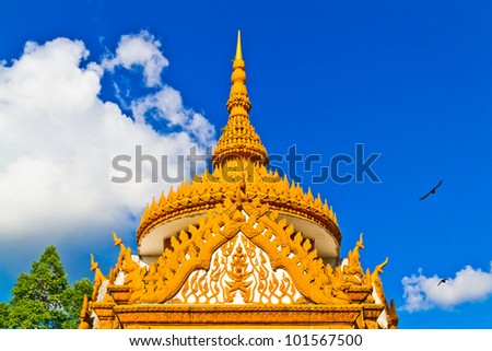 Arched entrance to the temple in Thailand