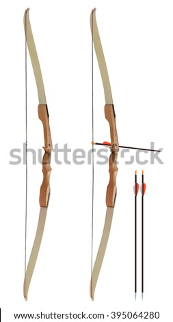 Archer and arrow  isolated on white background. This has clipping path. - stock photo