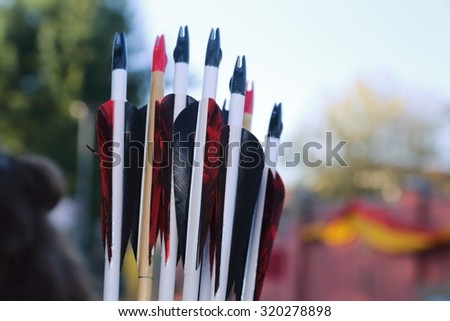 archers medieval center Italy - stock photo