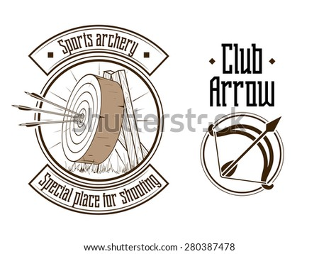Archery logo raster version - stock photo