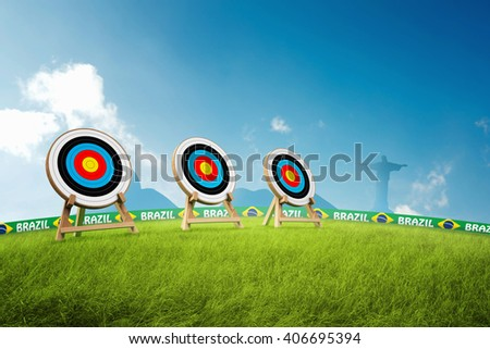Archery target 3D Illustration