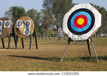 Archery Targets - stock photo