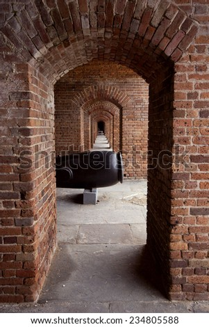 Arches and Collonades at Fort Zachary Taylor State Park, Key West, Florida - stock photo