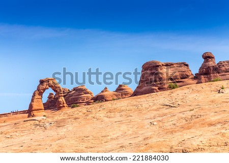 Arches National Park, Moab, Utah, USA - stock photo