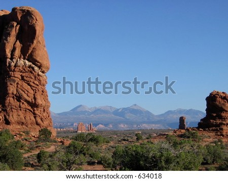 Arches National Park Mountains
