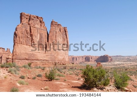 Arches National Park Rocky Formations in Utah, USA - stock photo