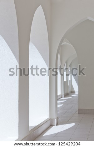 arches passage - stock photo