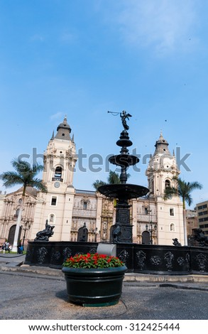 archiepiscopal palace in Lima Peru, south america - stock photo