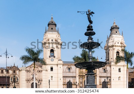 archiepiscopal palace in Lima Peru, south america