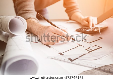Architect Blueprint Stock Images Royalty Free Images Vectors