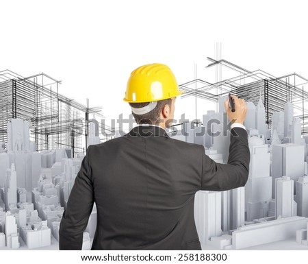 Architect designed and built an urban project - stock photo