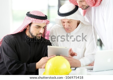Architects Engineers business people sitting for a meeting - stock photo