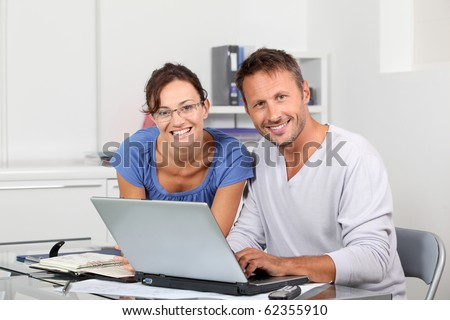 Architects working together in the office - stock photo