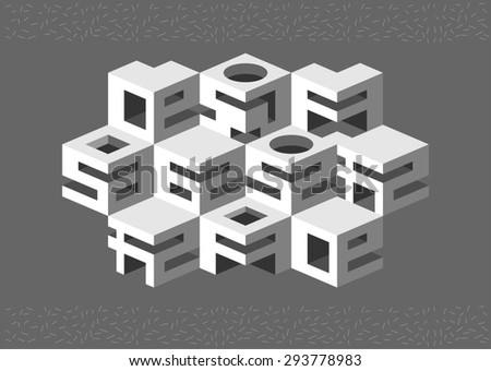 Architectural abstraction. Architectural abstraction of cubic elements.