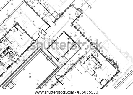 Architectural Drawing Background vector architectural black white background plans stock vector