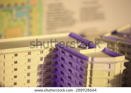 Architectural background building model - stock photo