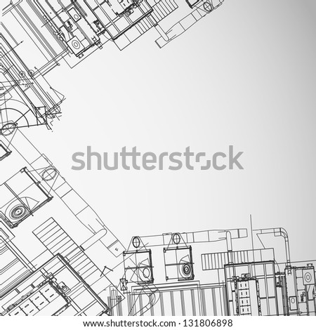Architectural background.  Illustration - stock photo