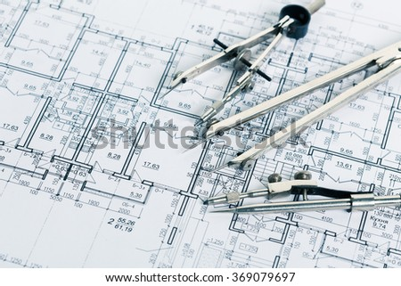Architectural blueprints