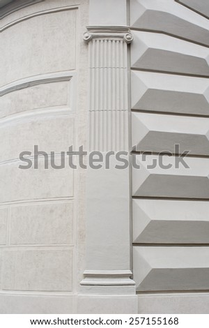 architectural columns on the building. - stock photo
