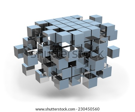 Architectural design business concept. 3d image. White background. - stock photo