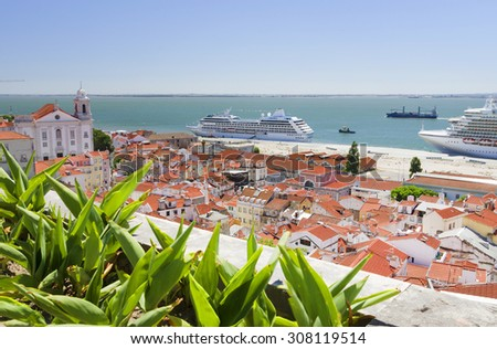Architectural detail in Lisbon, Portugal, Europe - stock photo