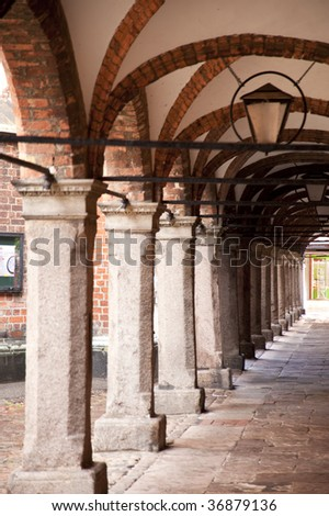 architectural detail in luebeck / germany