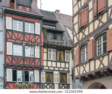 architectural detail of Colmar in Alsace, France