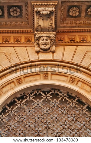 Architectural detail of moldings, Renaissance; Italy - stock photo