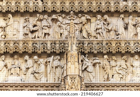 Architectural detail of The cathedral of Cologne, Germany, Europe