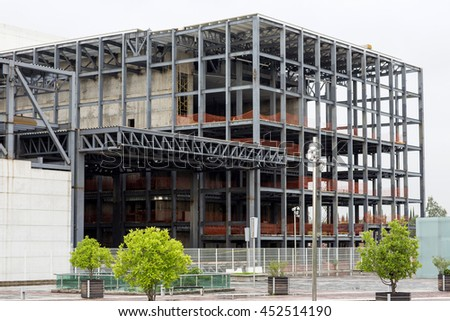 Architectural detail structure of  metal - stock photo
