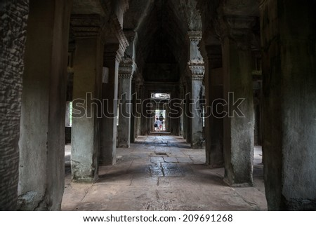 architectural details of temple angkor wat in cambodia